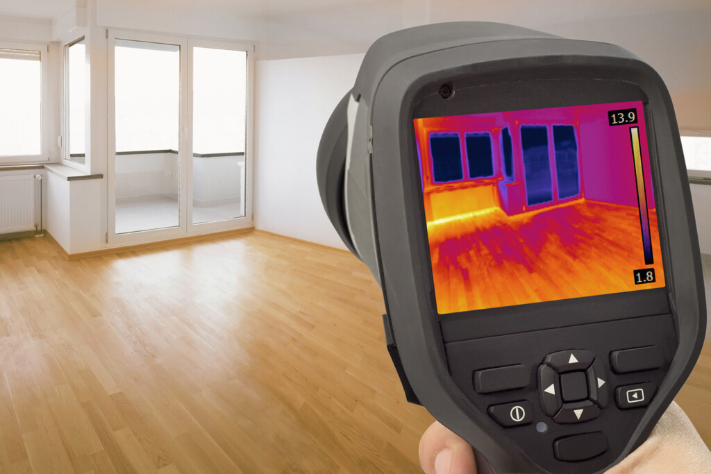 Thermal Imaging for Air Leakage Around Windows